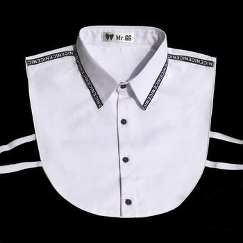 9bdecb2c36b252e Product Offer. Элегантная белая рубашка с фальшивым воротником Для мужчин  2019 ...
