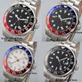 5 моделей 43 мм Nologo Red GMT ручные автоматические мужские часы Автоматическая Дата светящийся ручной ремешок SS