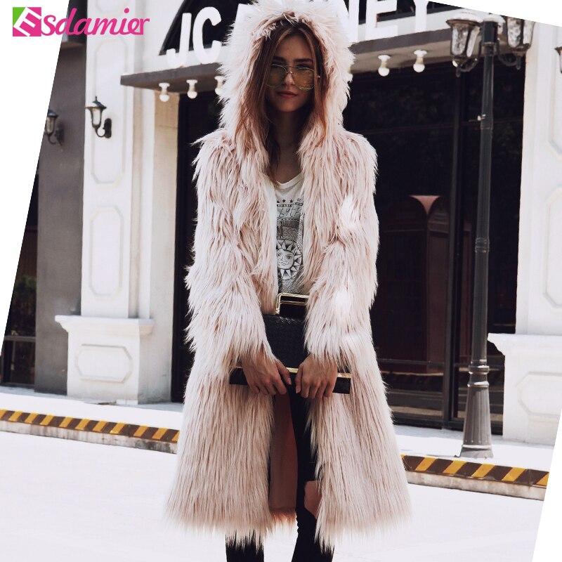 Aliexpress.com : Buy Autumn Winter Thick Warm Faux Fur Coat Long ...