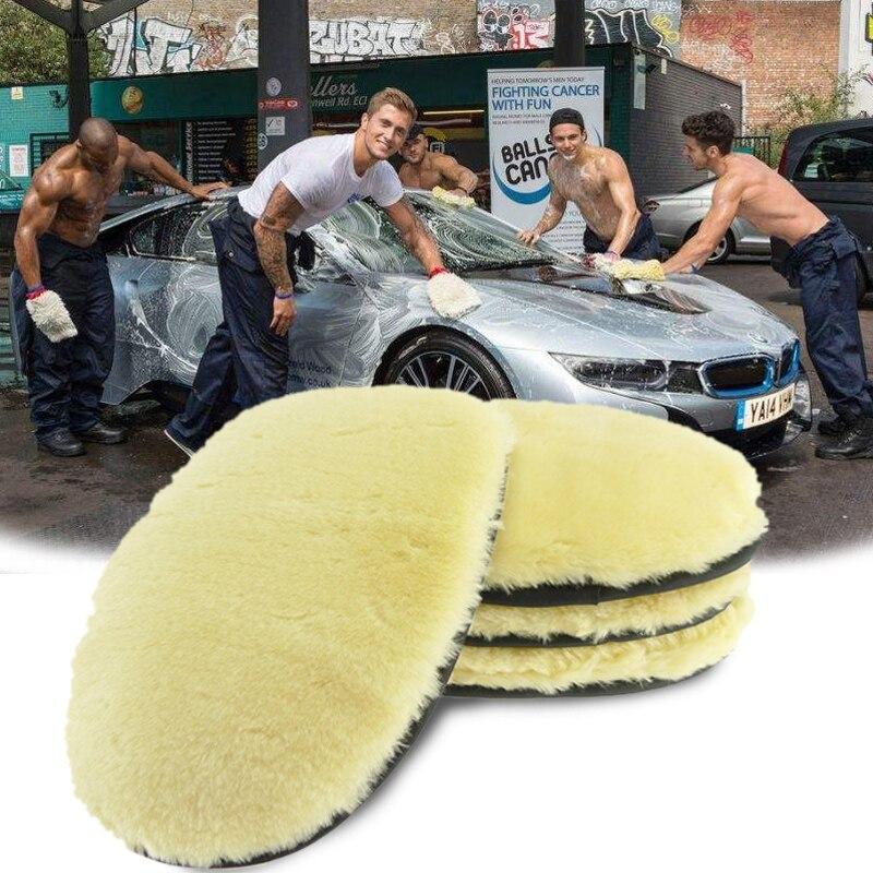Автомобиль авто грузовик мягкая овечья шерсть моющая рукавица полировка Красивая перчатка практичная