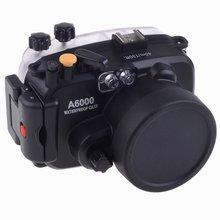 купить Meikon 40M Waterproof Underwater Camera Housing Case Bag for Sony A6000 Camera дешево