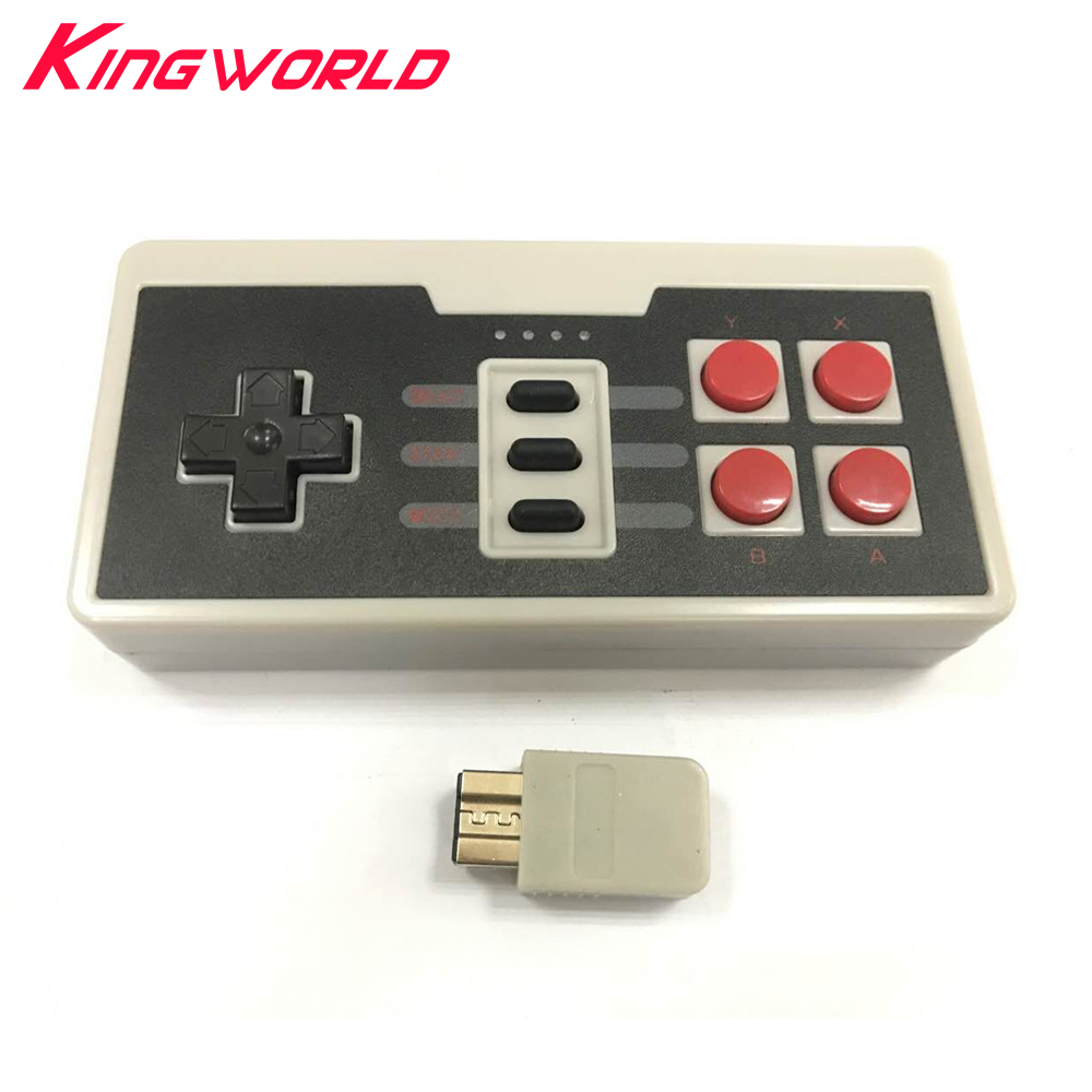 1sets Wireless Gaming Controlle Three Buttons joystick for Nintendo for NES Mini Classic Edition Gamepad With Wireless Receiver