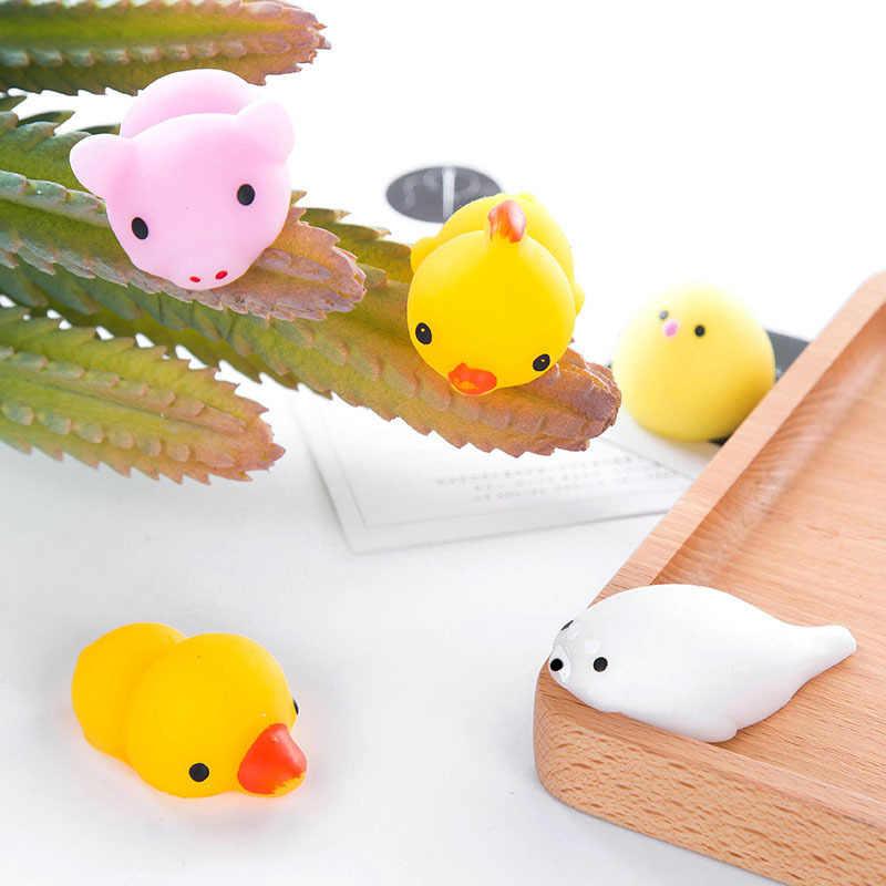 100pc Kawaii Животные Мягкий Моти игрушка для снятия стресса обезболивающее животное мягкое мини-сжимающее устройство для сжигания рук игрушка для декомпрессии