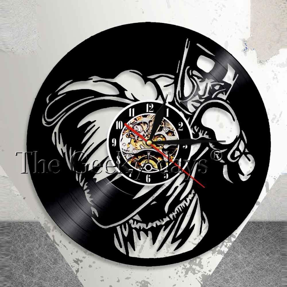 El Disco De Vinilo Reloj De Pared De Deporte Hobby El
