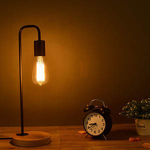 edison table lamp vintage home lighting. 60 W Table Lamps For Home Lighting Decoration Simple Wood Edison Lamp Vintage
