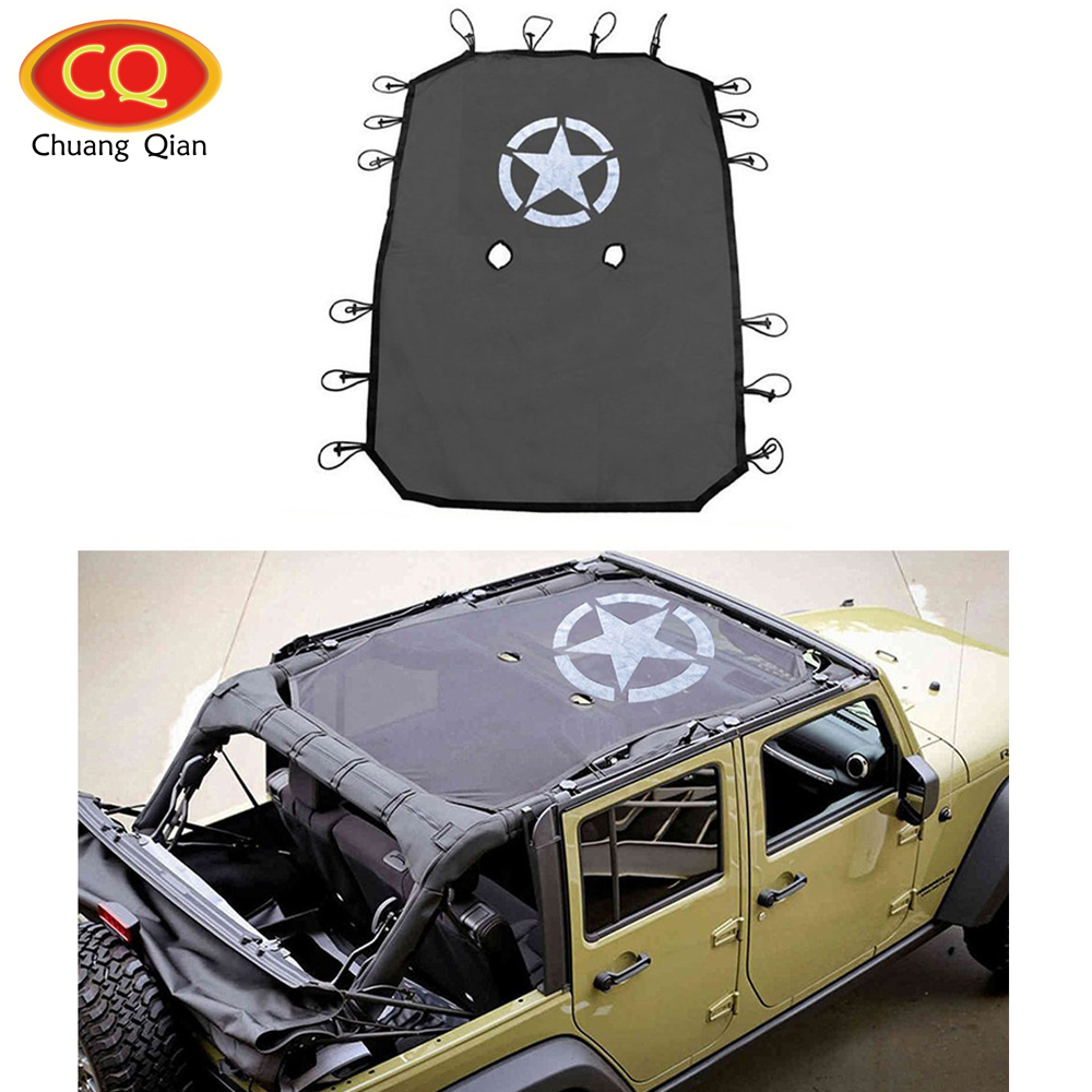 Chuang Qian Star Style Full Cover Mesh Sun Shade Top Eclipse Sunshade UV Protection for Jeep
