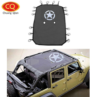 Chuang Qian Star Style Full Cover Mesh Sun Shade Top Eclipse Sunshade UV Protection for Jeep Wrangler JK 2007 2017 4 Door