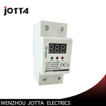 цена на 60A 220V automatic reconnect over voltage and under voltage protection protective device relay with Voltmeter voltage monitor