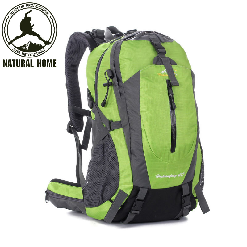 ФОТО NaturalHome Climbing Bag Waterproof Men Women Outdoor Backpack Sport Hiking Camping Rucksack Mountaineering Knapsack Bag