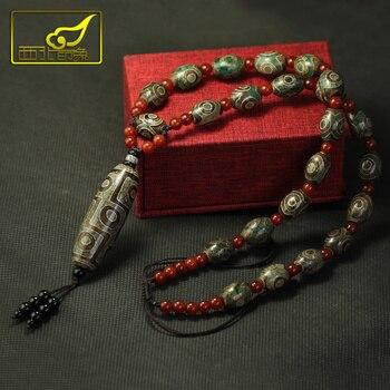 Retro Style Tibetan Nine-eye Necklace Pendants Collares gold necklace men's and women's Designer Jewelry