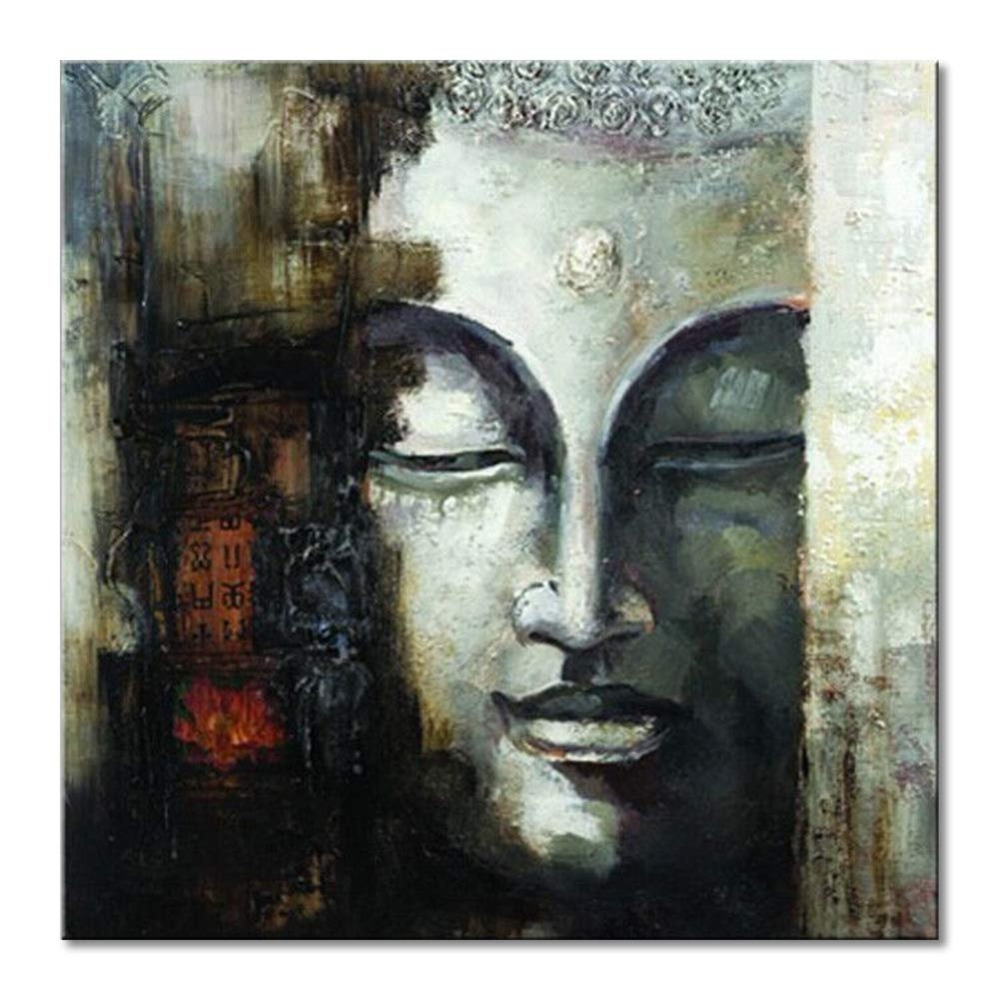 Hand painted abstract Oil Painting Buddha art Modern home decor abstract Wall Art picture gifts for living room on canvasHand painted abstract Oil Painting Buddha art Modern home decor abstract Wall Art picture gifts for living room on canvas