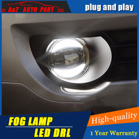 2014 2016 Car Styling Angel Eye Fog Lamp for Honda Fit LED DRL Daytime Running Light High Low Beam Fog Automobile Accessories