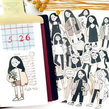 17 шт/набор японские милые женские Стикеры