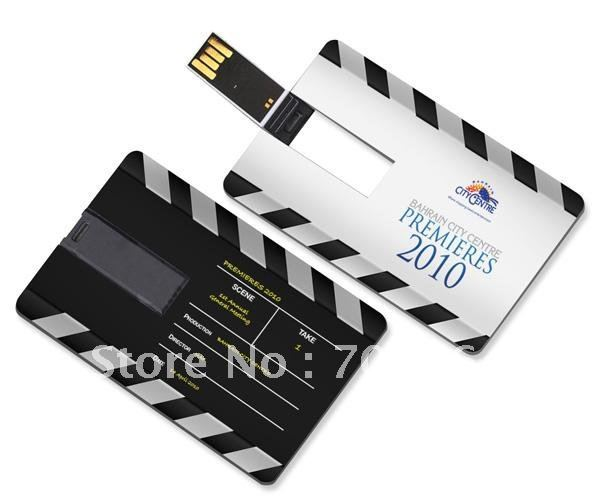 Cheapest 100pcs/lot 16GB 8GB 4GB credit card shape usb flash drive real memory with full color printing