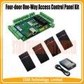Quatro-portas One-Way ard Do Painel de Controle de Acesso do comparecimento do tempo + 4 PCS mini 125 khz RFID Weigand leitor de rfid Sistema de Controle de Acesso L04