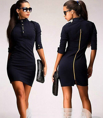 Navy Military Style Dresses