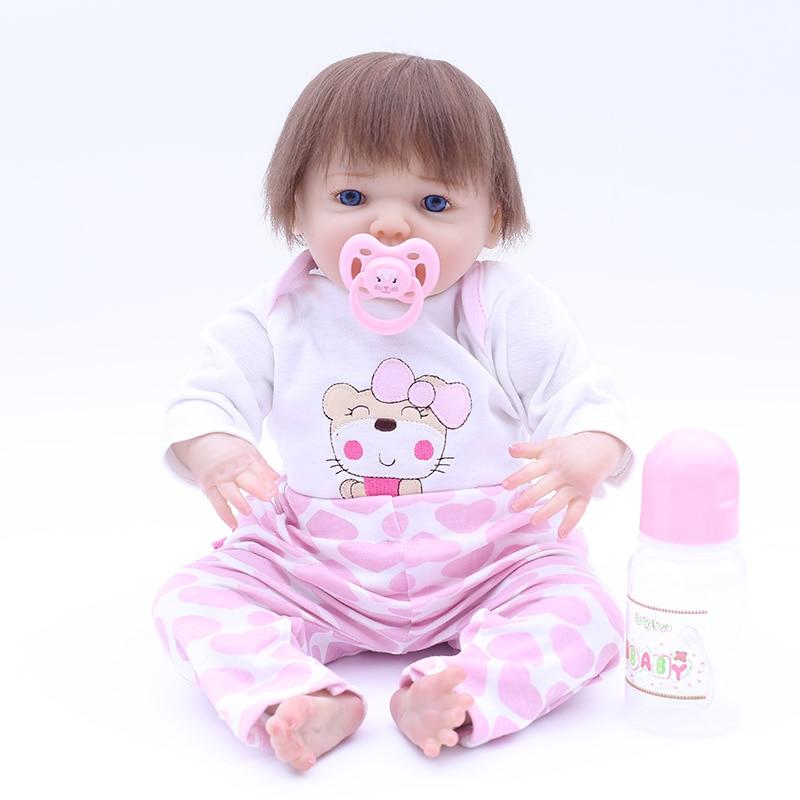 Otardpoupées Boneca Reborn Silicone souple vinyle poupée 43 cm Silicone souple Reborn bébé poupée nouveau-né réaliste Bebe Reborn poupées