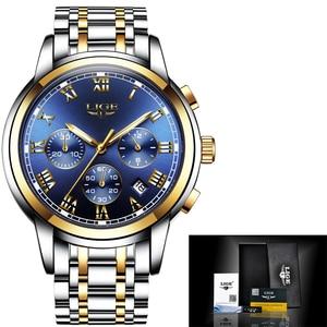Image 5 - 2018 Nieuwe Horloges Mannen Luxe Merk LUIK Chronograph Mannen Sport Horloges Waterdichte Volledige Steel Quartz Horloge Relogio Masculino