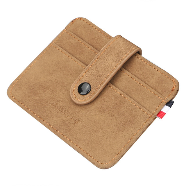 Fashion Bank Card Package Coin Bag Card Holder Travel PU Leather Men Wallets Women Credit Card Holder Cover