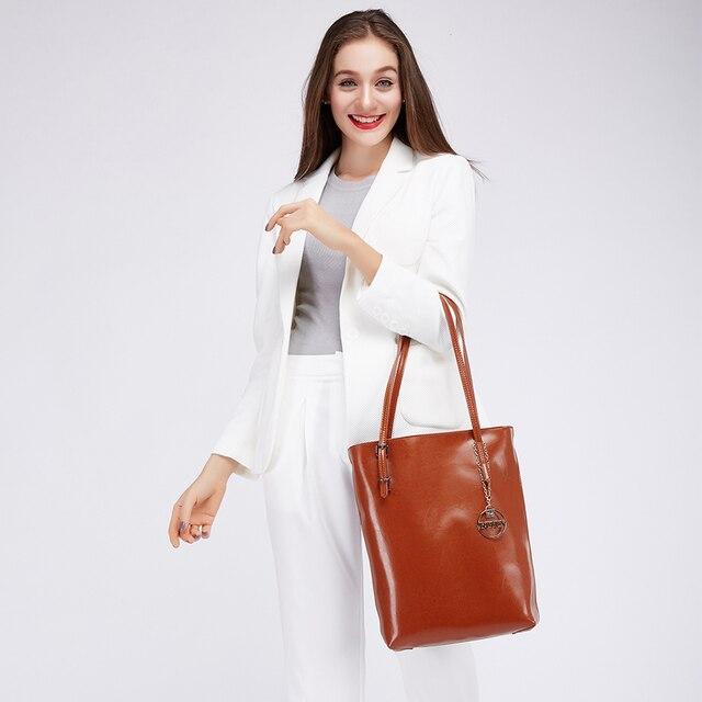 DUSUN Genuine Leather Handbags Women Bag Retro Shoulder Bag 2016 New Women's Large Tote Bags Ladies Casual Design Handbags
