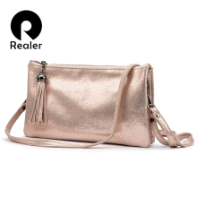 REALER crossbody bags for women genuine leather handbags fem