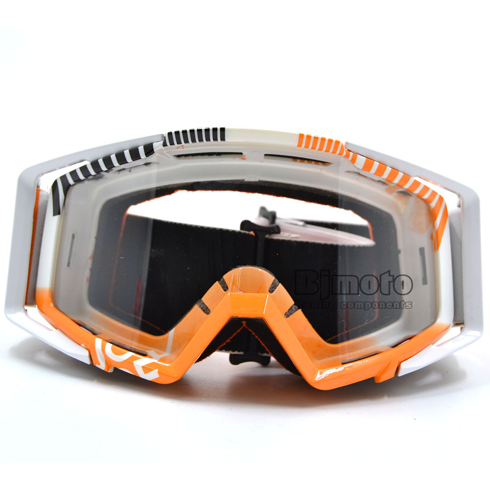 Vintage Colorful UV Protection Off Road Motocross Goggles Glasses for Motorcycle Dirt Bike Clear Len