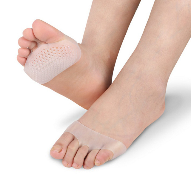 Soft Silicone Gel Toe Pads High heel shock absorption anti Slip-resistant metatarsal foot Pad Forefoot Pad Feet Pain Health Care