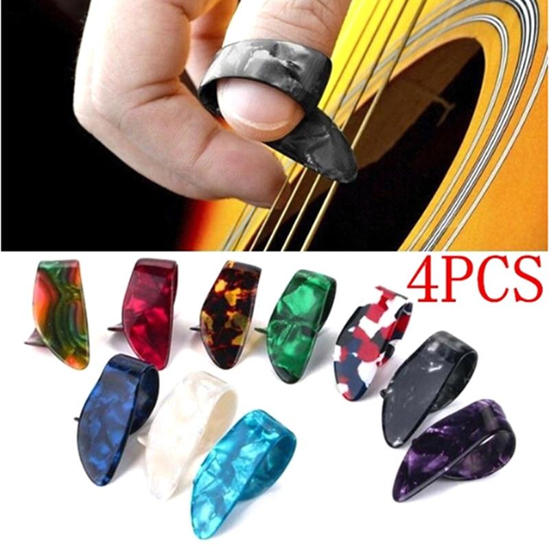 Clothing Sets Orderly 4pcs/set Thumb Finger Guitar Picks Guitar Plectrums Sheath For Acoustic Electric Bass Guitar Wholesale Random Color Engagement & Wedding