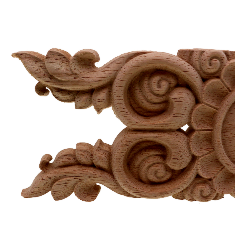 US $3 84 23% OFF|VZLX Antique Decorative Wood Appliques Furniture Cabinet  Natural Moldings Decals Flower Carving Figurines Wedding Decoration-in
