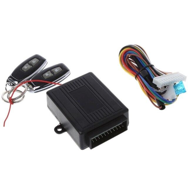 Kit de sistemas de alarma de coche Universal cerradura de puerta Central remoto de coche, sistema de entrada sin llave de vehículo con 2 controladores remotos