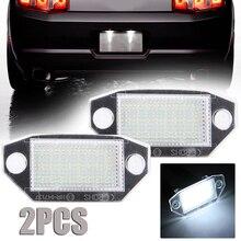 2pcs/set DC 12V Car LED Light License Number Plate 24 White For Ford Mondeo MK3 2000-2007