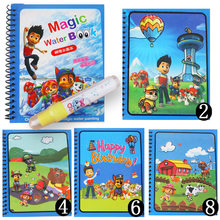 Paw patrol crianças artesanal criativo mágico água pinturas graffiti pintura colorida colorir brinquedo presente reutilizável