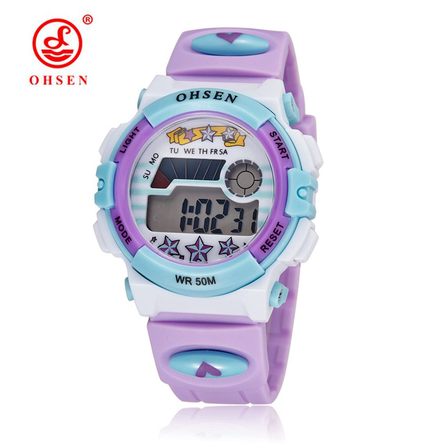 Top Brand Montre Enfant OHSEN Djeca Sportski satovi LED Digitalni sat Alarm Datum Dan Djeca Ručni sat 50M sat otporan na vodu