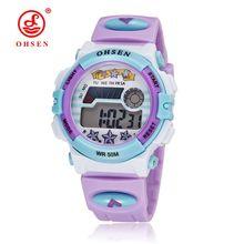 Top Brand Montre Enfant OHSEN Kids Sports Watches LED Digital Watch Alarm Date Day Children Wristwatch 50M Water Resistant Clock