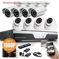 Full HD 1080P 3000TVL CCTV security system 8CH 1080P AHD-H DVR kit 8*2mp Outdoor video surveillance security camera kit WIFI DVR