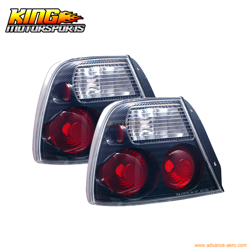 For 2000-2002 Accent GS Hatchback 3Dr Tail Lights Carbon Look USA Domestic Free Shipping hyundai accent hatchback ii бу москва