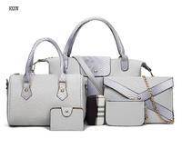 Women Handbag Python Women Tote Messenger Bags 6 Pieces Set Serpentine Print Bags For Ladies Casual