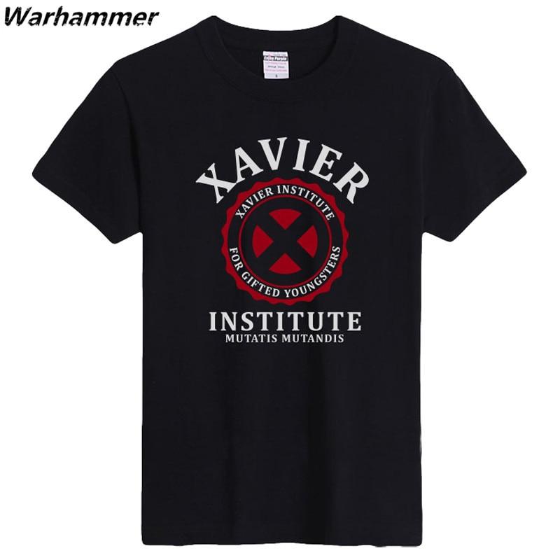 Warhammer 2017 Estate T shirt Uomo Flock Stampa Xavier Institute - Abbigliamento da uomo