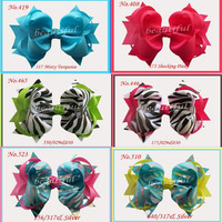 12 pcs Girl Costume Boutique 8 Big Hair Bows Grosgrain Ribbon Bow Boutique Hair AccessoriesHairbows