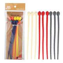 1 piece 17.7 cm long snake shaped reusable multifunctional silicone data line wire ties binder(China)