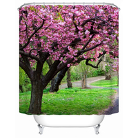 Vixm Waterproof Trees Beautiful Trees Eco Friendly Shower Curtains Bathroom Curtain Bathroom Bath Screen Shower Curtain