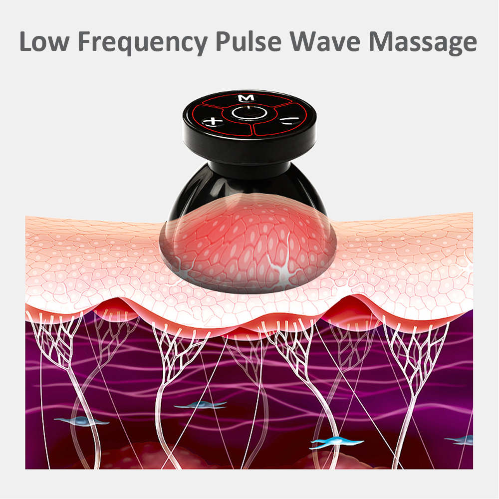 Electric Bipolar EMS Cupping Neck Back Arm Massage Body Detox Health Care Device Micro EMS Stimulation Pain Relief Electrode in Massage Relaxation from Beauty Health
