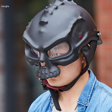 scooter vintage motorcycle helmets capacetes de motociclista skull motorcycle helmet skull helmet black white free shipping