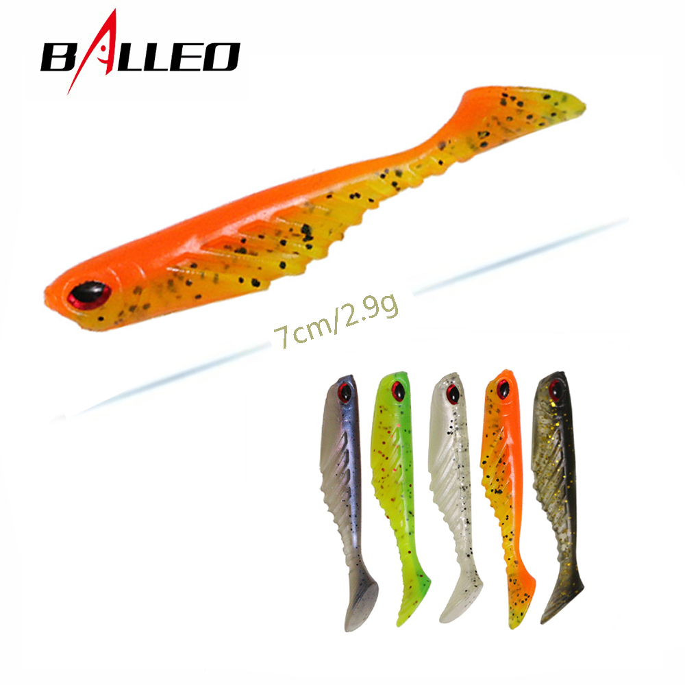 Balleo 10pcs/lot soft lure 7cm/2.9g silicone Fishing lure silicone bait Wobbler Soft baits for fishing bait shad worm bait lure 50pcs new wifreo soft lure loader locker connector fishing worm hook bait accessories for bass fishing wholesale
