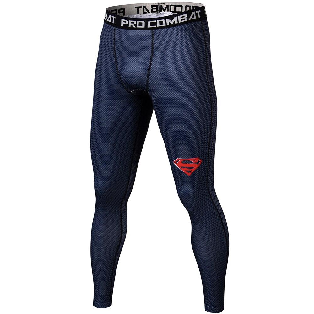 Dünne Jogginghose für Männer Compression Hosen Männer Mode Leggins Jogger Männer 3D Fitness Hosen Spiderman Flash Elastische Hose