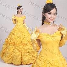 Платье принцессы «Красавица и Чудовище»; платье принцессы; платье-колокол; платье принцессы для костюмированной вечеринки; платье на заказ; свободная Пышная юбка