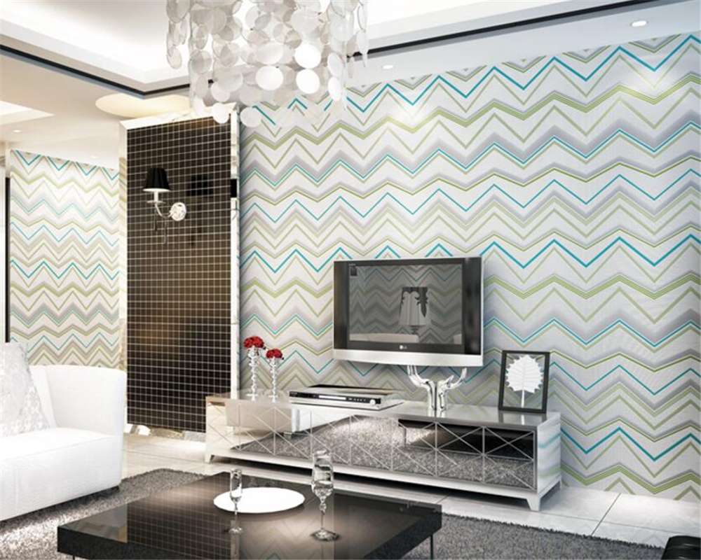 Beibehang Modern nonwovens wallpaper Water ripple stripes 3D wallpaper Living room bedroom TV background wallpaper for walls 3 d beibehang shop for living room bedroom mediterranean wallpaper stripes wallpaper minimalist vertical stripes flocked wallpaper