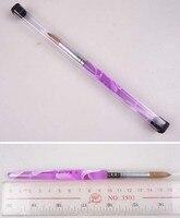 16 # נייל אקריליק נייל ארט מברשות גילוף עט מברשת ציור צייר ידית אקריליק kolinsky 100% pure עבור טיפוח יופי Desgin crytal