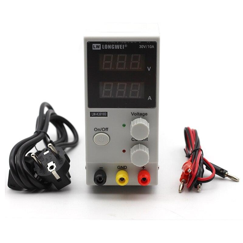Mini alimentation numérique réglable DC 30V 10A laboratoire alimentation à découpage 110 v-220 v K3010D ordinateur portable réparation de téléphone