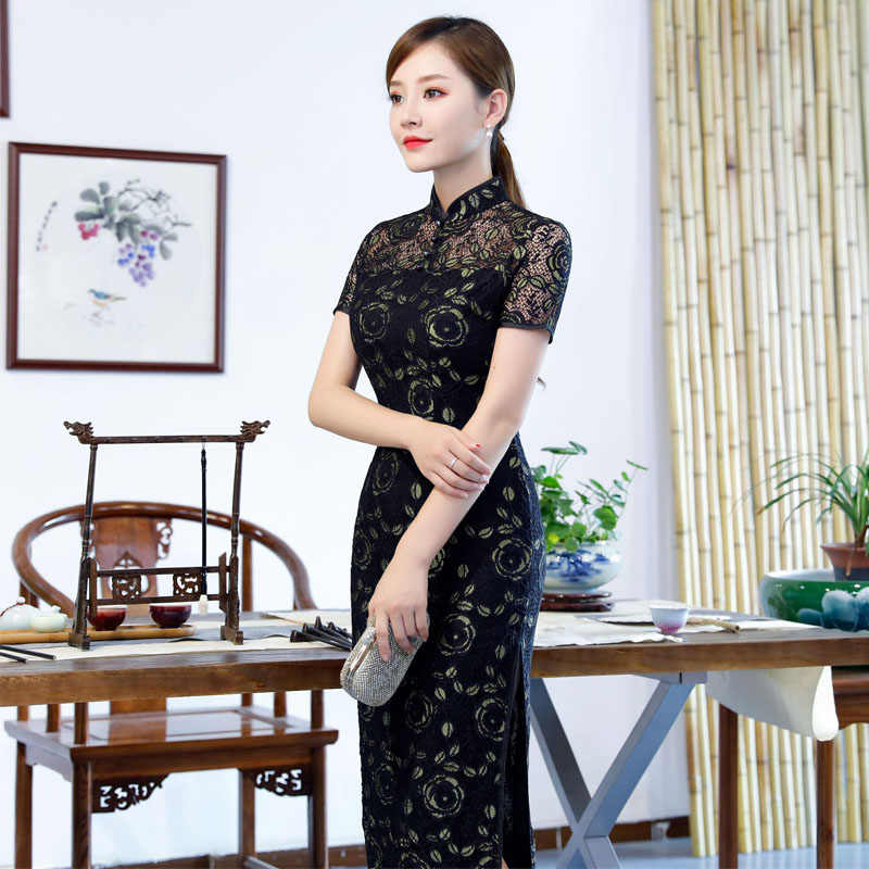 04eb28c27 ... Cheongsam Long Sexy Lace Qipao Modern Chinese Traditional Dress Evening  Gown Traditional Chinoise Qi Pao Formal ...
